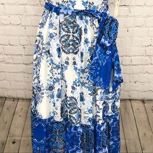 Eliza J Dresses - Eliza J Floral Blue White Cold Shoulder Dress 14